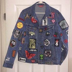 Supreme Trucker Patch Jean jacket